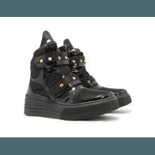 Tênis Sneaker Crossfit Preto Com Verniz Preto - KLMASTERFITNESS