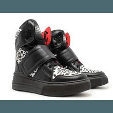 Sneaker Para Academia Preto com Onça Branca - KLMASTERFITNESS