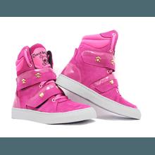 Tênis Sneaker Cano Alto Cheia De Marra Rosa Fúcsia... - KLMASTERFITNESS