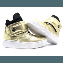 Tênis Sneaker Cano Alto Dourado - KLMASTERFITNESS