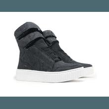 Tênis Sneaker Jeans Destroyed Preto - KLMASTERFITNESS