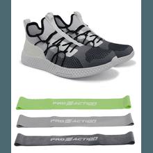 Tênis de Corrida Cinza Degradê Iron Flex + Kit Min... - KLMASTERFITNESS