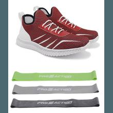 Tênis de Corrida Vermelho Cereja Iron Flex + Kit M... - KLMASTERFITNESS