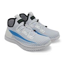 Tênis de Corrida Branco com Azul Bebe Iron Flex - KLMASTERFITNESS