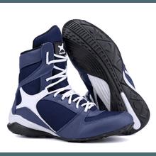Bota de Treino Musculação Mr Gutt Cano Alto Azul - KLMASTERFITNESS
