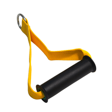 Puxador Estribo Nylon Simples Profissional Amarelo - KLMASTERFITNESS