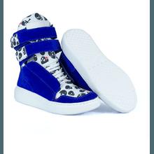 Tênis Bota Treino Sneaker Feminino Fitness Azul Ca... - KLMASTERFITNESS