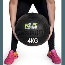 Wall Ball Couro Crossfit Funcional Medicine Ball 4... - KLMASTERFITNESS