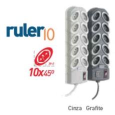 FILTRO DE LINHA RULER10 GRAFITE - BA Elétrica - Sua Loja de Materiais Elétricos em Manaus