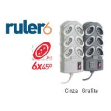 FILTRO DE LINHA RULER6 GRAFITE - BA Elétrica - Sua Loja de Materiais Elétricos em Manaus