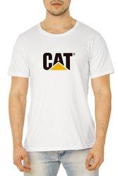 Camiseta Caterpillar Masculina 100% Algodão - Branca