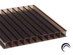 Chapa de Policarbonato Alveolar Bronze 2,10x6,00 4 Milímetros