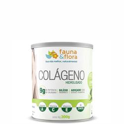 Colágeno Hidrolisado com Silício Orgânico zero Malto sabor Limão e Clorofila 300g