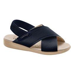 Sandália Feminina Ortopédica - Azul Marinho - MA14031AM - Pé Relax Sapatos Confortáveis