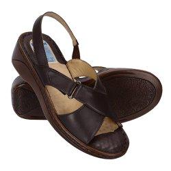 Sandália Feminina Confortável - Café - FB263C - Pé Relax Sapatos Confortáveis