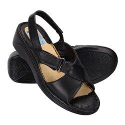 Sandália Confortável Feminina - Preta - FB263P - Pé Relax Sapatos Confortáveis
