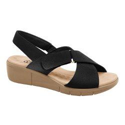 Sandália Ortopédica Feminina - Preta - MA585004P - Pé Relax Sapatos Confortáveis