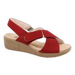 Sandália Ortopédica Feminina - Vermelha - MA585004V - Pé Relax Sapatos Confortáveis