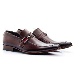 Sapato Masculino Solado de Couro Marrom - BI312M - Pé Relax Sapatos Confortáveis