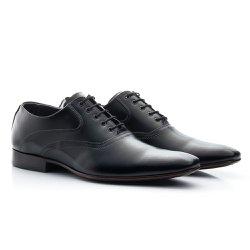 Sapato Oxford Masculino Preto - BI340P - Pé Relax Sapatos Confortáveis