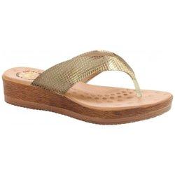 Chinelo Anatômico Feminino - Gold - MA537008PG - Pé Relax Sapatos Confortáveis