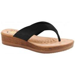 Chinelo Anatômico Feminino - Preto - MA537008PT - Pé Relax Sapatos Confortáveis