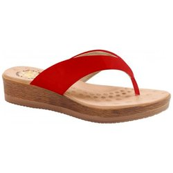Chinelo Anatômico Feminino - Vermelho - MA537008VM - Pé Relax Sapatos Confortáveis