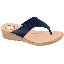 Chinelo Confort Feminino - Azul - MA10007NAZ - Pé Relax Sapatos Confortáveis