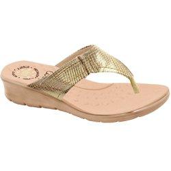Chinelo Feminino Anatômico - Light Gold - MA10007NPLG - Pé Relax Sapatos Confortáveis
