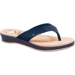 Chinelo Comfort - Azul - MA128157AZ - Pé Relax Sapatos Confortáveis