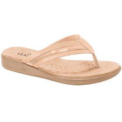 Chinelo Anatômico Feminino - Bistrô Bege - MA14035BG - Pé Relax Sapatos Confortáveis