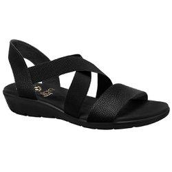 Sandália Confort Feminina - Preta - MA10062PT - Pé Relax Sapatos Confortáveis