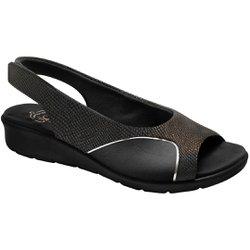 Sandália para Joanete - Lezard Preta / Sola Preta - MA10073PT - Pé Relax Sapatos Confortáveis