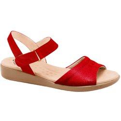 Sandália Anatômica Confort - Vermelha - MA14018VM - Pé Relax Sapatos Confortáveis