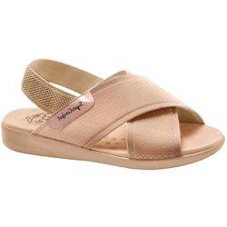 Sandália para Senhoras - Bege - MA14031VB - Pé Relax Sapatos Confortáveis