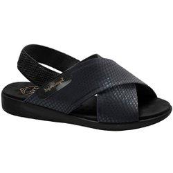 Sandália Feminina Ortopédica - Preta/Sola Preta - MA14031SP - Pé Relax Sapatos Confortáveis