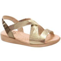 Sandália de Festa para Senhoras - Gold - MA14034PGO - Pé Relax Sapatos Confortáveis