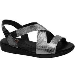 Sandália de Festa para Senhoras - Silver - MA14034PS - Pé Relax Sapatos Confortáveis