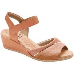 Sandália Anabela Saltinho - Antique - MA206050PA - Pé Relax Sapatos Confortáveis
