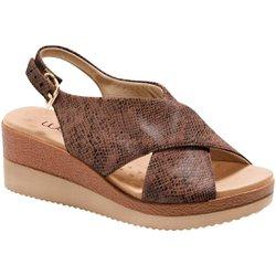 Anabela Confortável - Python Antique - MA581026PA - Pé Relax Sapatos Confortáveis