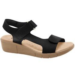 Sandália para Pé Alto - Preta / Avelã - MA585001PA - Pé Relax Sapatos Confortáveis