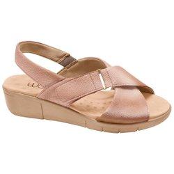 Sandália Ortopédica Feminina - Cobre - MA585004CB - Pé Relax Sapatos Confortáveis