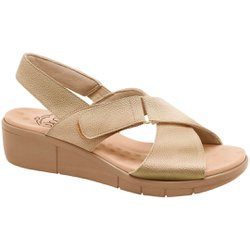 Sandália Ortopédica Feminina - Champagne - MA585004CH - Pé Relax Sapatos Confortáveis