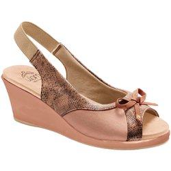 Sandália Anabela para Joanete - Python Antique - MA86421PPA - Pé Relax Sapatos Confortáveis