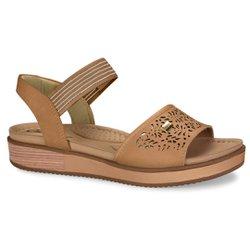 Sandália Comforto - Marrom Duna - CAL6633MA - Pé Relax Sapatos Confortáveis