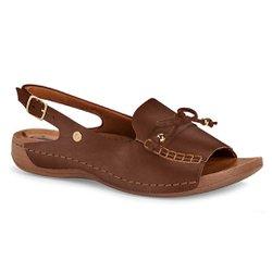 Sandália Especial Conforto - Marrom - CAL6834MA - Pé Relax Sapatos Confortáveis
