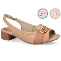 Sandália Salto Baixo - Stars - CAL6903ST - Pé Relax Sapatos Confortáveis