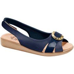 Sandália Feminina Anatômica - Azul - MA14041AZ - Pé Relax Sapatos Confortáveis