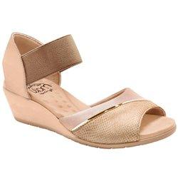 Sandália Comfort Feminina - Bege - MA206043BE - Pé Relax Sapatos Confortáveis