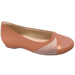 Sapatilha Feminina Salto Interno - Antique - MA116042A - Pé Relax Sapatos Confortáveis
